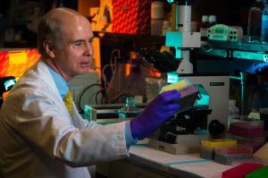 Kenneth Anderson, MD, photographed in his lab for POP SS 2013
